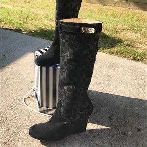 Coach Suede black boots
